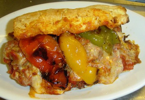 Mozza Italian Beef  with Peppers and Red Sauce
