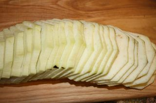 Peeled Sliced Eggplant