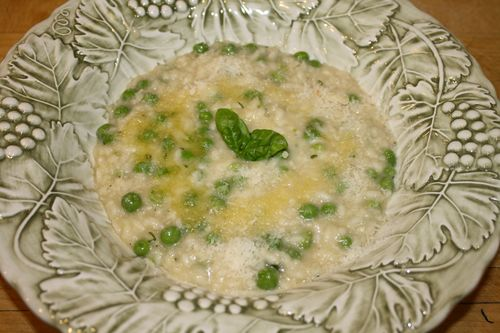 Risotto with Sweet Peas