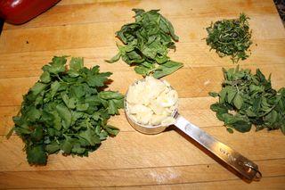 Parsley, garlic, basil, thyme, oregano