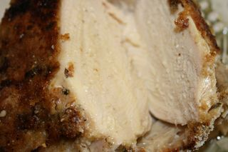 Juicy breast of baked chicken