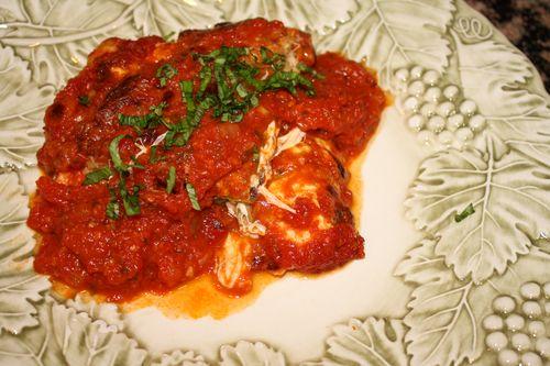 Francese Eggplant parmesan