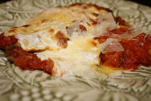Italian American Eggplant Parmesan