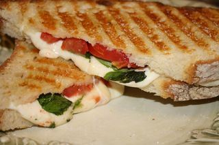 Panini Caprese - Just a bit of salt on the outside!