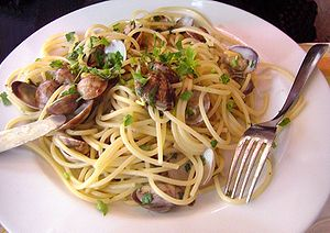 Linguini vongole white